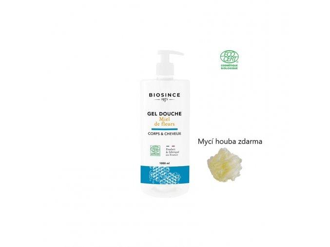 Biosince sprch.gel med 1000ml+mycí houba
