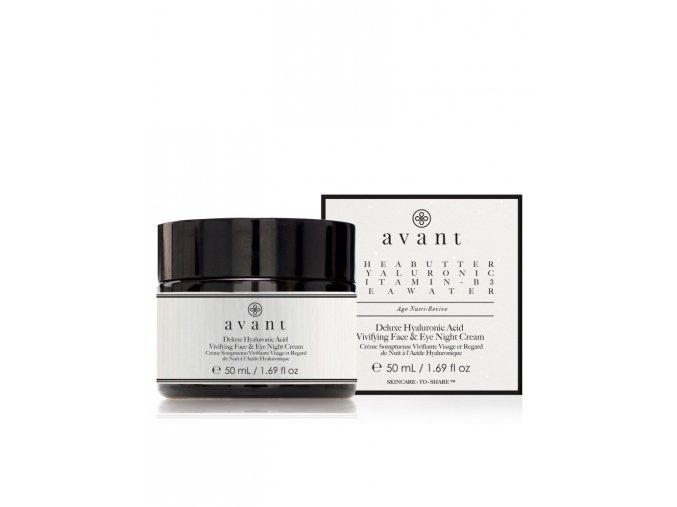 deluxe hyaluronic acid vivifying face eye night cream