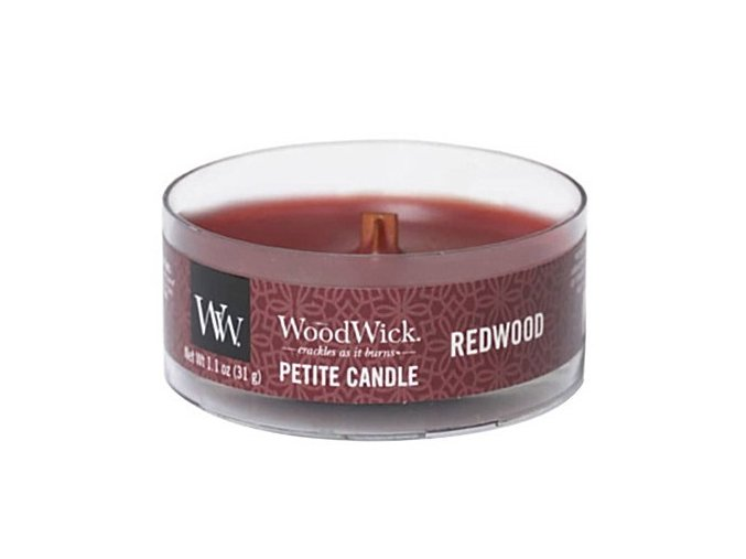 woodwick redwood petite candle
