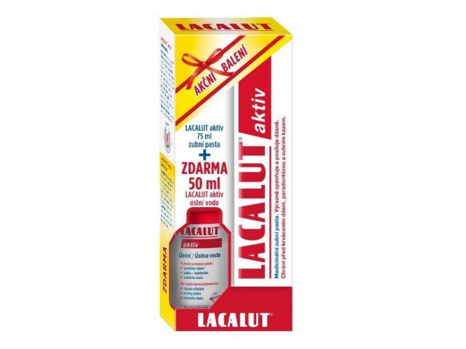 lacalut aktiv zubni pasta 75ml+ústní voda 50ml