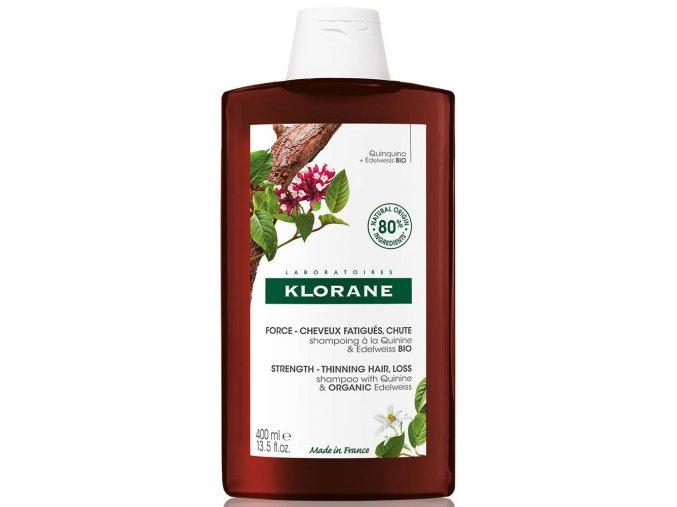 Klorane Šampon s chininem a BIO protěží alpskou 400 ml