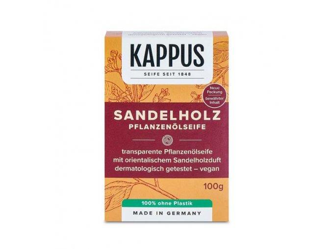 kappus mýdlo santalové dřevo krabička