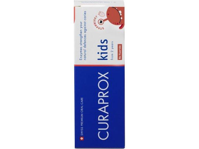 Curaprox Kids dětská zubní pasta od 2 let jahoda bez fluoru 60 ml