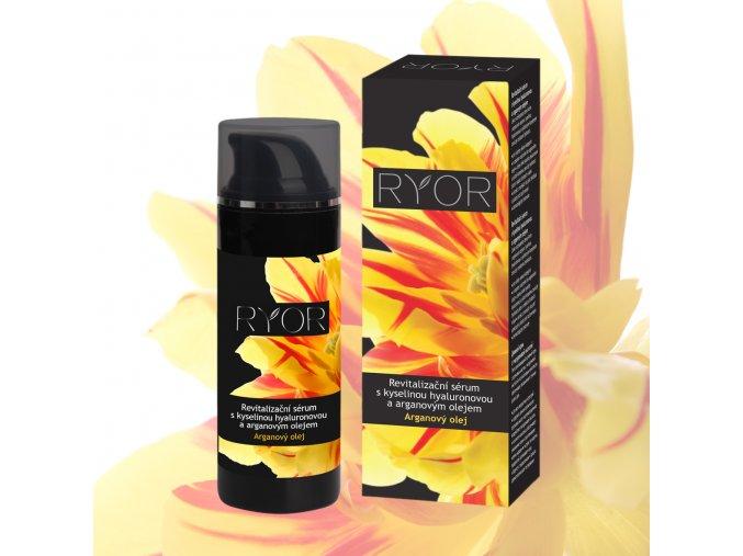 26003 Revitalizační sérum s kyselinou hyaluronovou krabička + dávkovač květina