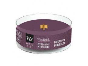 woodwick dark poppy petite svicka