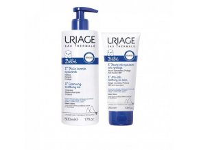 uriage baby 1st cleansing soothing oil 500ml anti itch oil balm 200ml