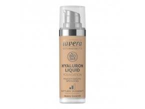lavera lehky tekuty make up s kyselinou hyaluronovou 03 medova 30ml z1
