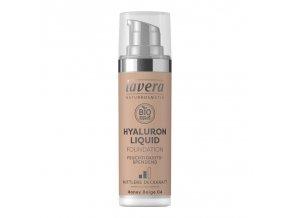 lavera lehky tekuty make up s kyselinou hyaluronovou 04 bezova 30ml z1