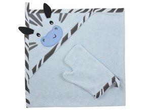 Osuška zebra se žínkou modrá