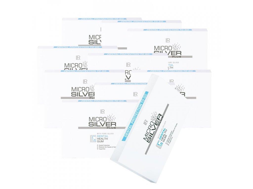 Microsilver Plus Žvýkačky 10 balení 100 x 1,4 g
