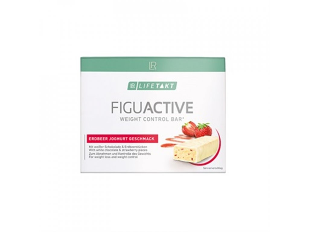 LR LIFETAKT Figu Active Tyčinka s jahodami a jogurtem 6x 60 g