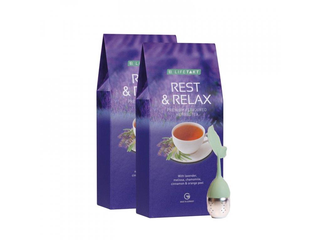 LR LIFETAKT Rest & Relax bylinný čaj s příchutí Série 2 ks 2 x 75 g