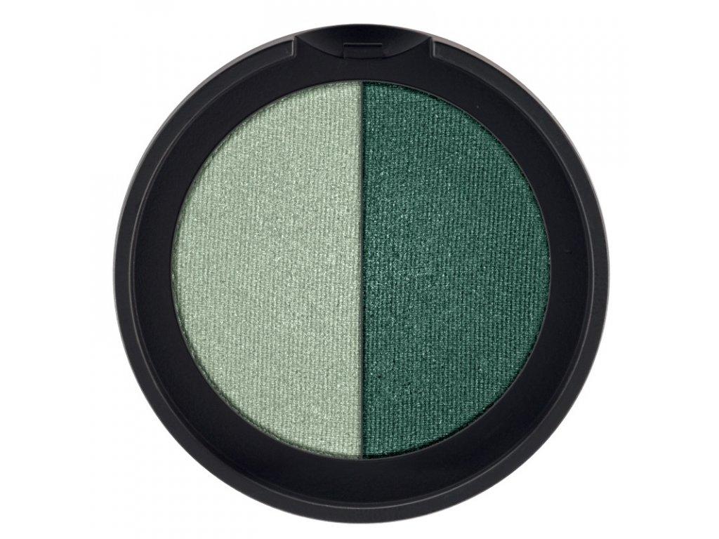 Minerální oční stíny Duo (odstín Mint & Pine Green) 2 x 1,25 g
