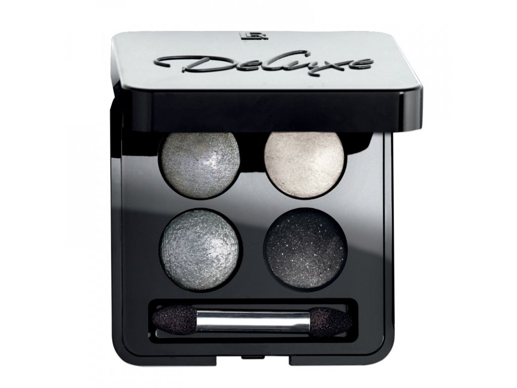 Umělecké oční stíny Quattro (odstín Night Rock) 4 x 0,5 g