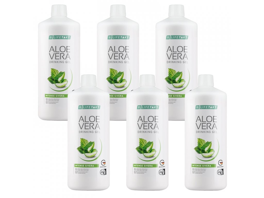 LR LIFETAKT Aloe Vera Drinking Gel Intense Sivera Série 6 ks 6 x 1 000 ml