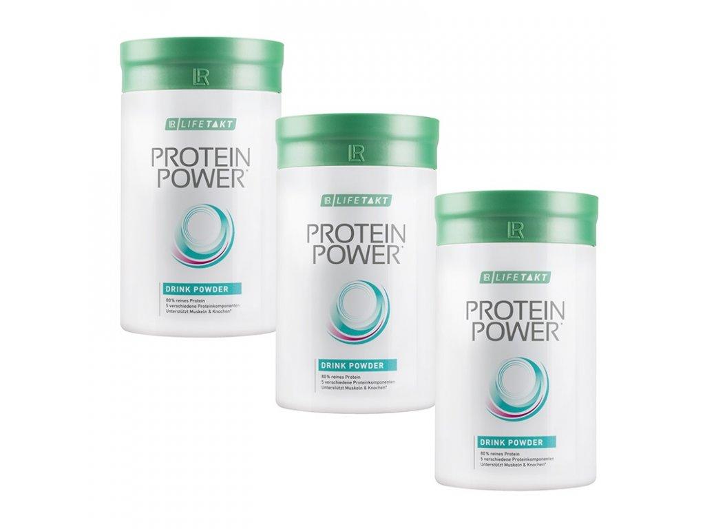 LR LIFETAKT Protein Power Vanilkový Nápoj v Prášku Série 3 ks 3 x 375 g