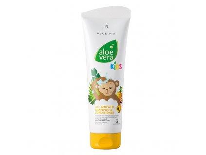 Aloe Vera Jungle Friends 3in1 Šampon, kondicionér & sprchový gel