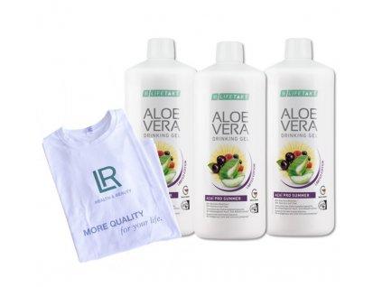 Aloe Vera Drinking Gel Acai Série 3 ks + LR Tričko zdarma 3 x 1 000 ml + tričko