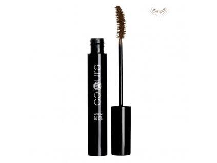 Mascara pro objem a natočení řas (Dark Brown) 10 ml