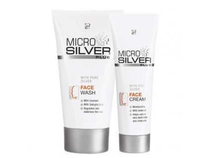 Microsilver Plus mycí krém 150 ml + pleťový krém 50 ml