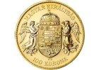 zlatá mince 100 Koruna 1908 KB