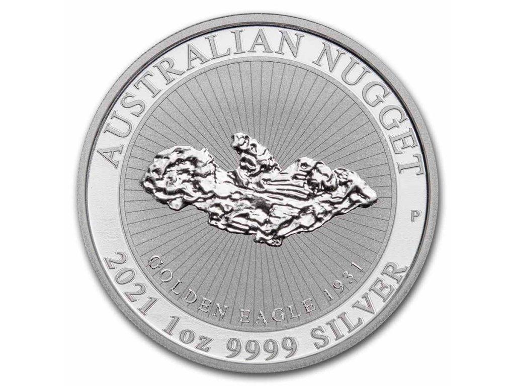 2021 australia 1 oz silver golden eagle nugget bu 230073 slab CAPSULE