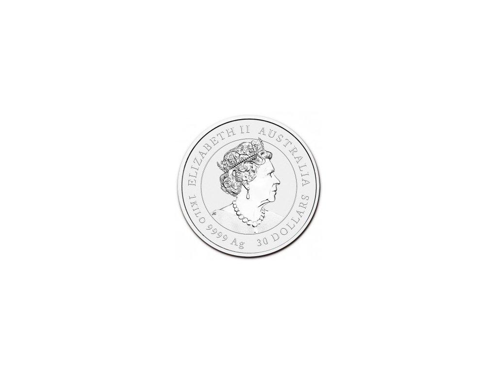 2015 australia 1 kilo silver kookaburra bu 84447 Obv