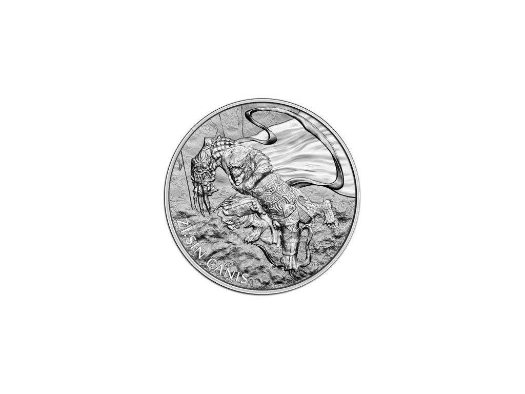 1 oz silver zisin canis 2018 south korea