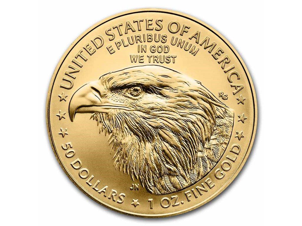 2021 1 oz american gold eagle coin bu type 2 229435 rev