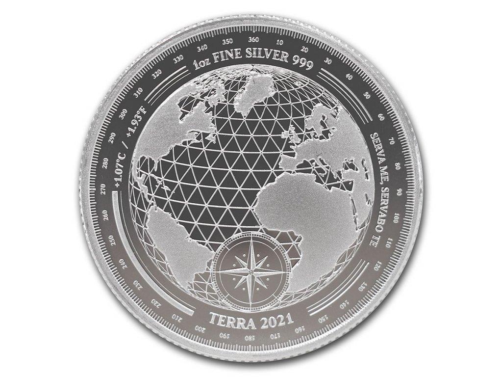 2021 tokelau 1 oz silver 5 terra bu 225808 slab