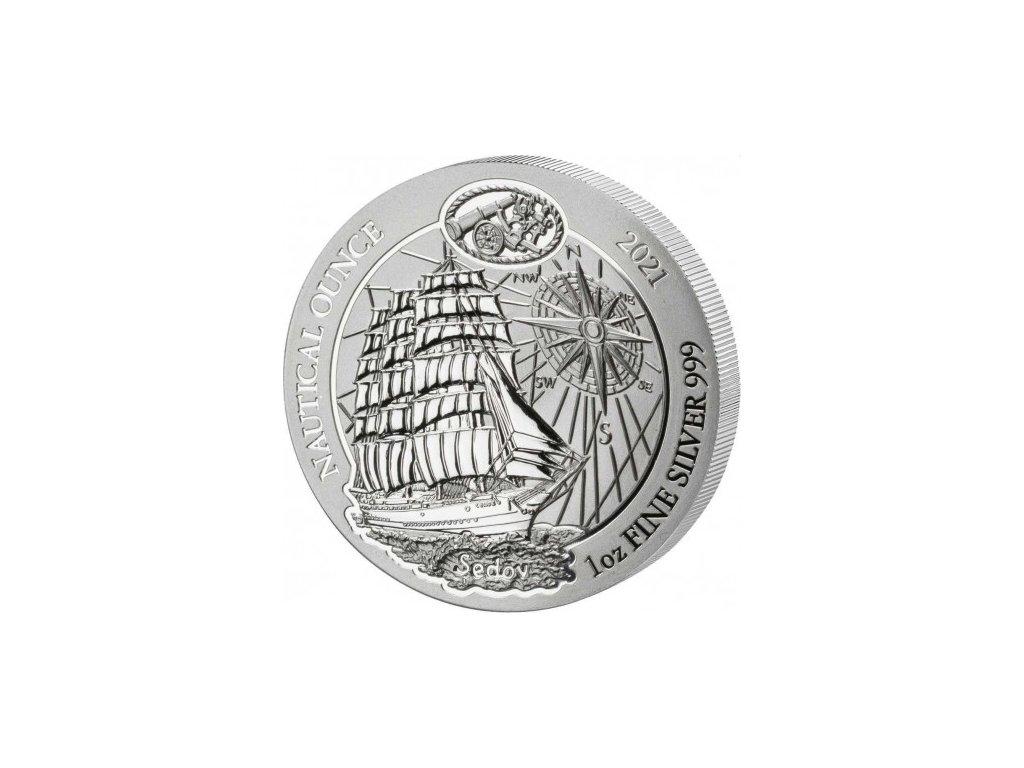 1 oz silver rwanda nautical sedov 2021 amafranga 50