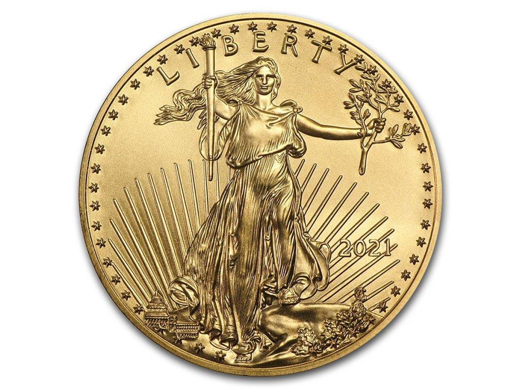 2021 1 oz american gold eagle bu 218622 slab