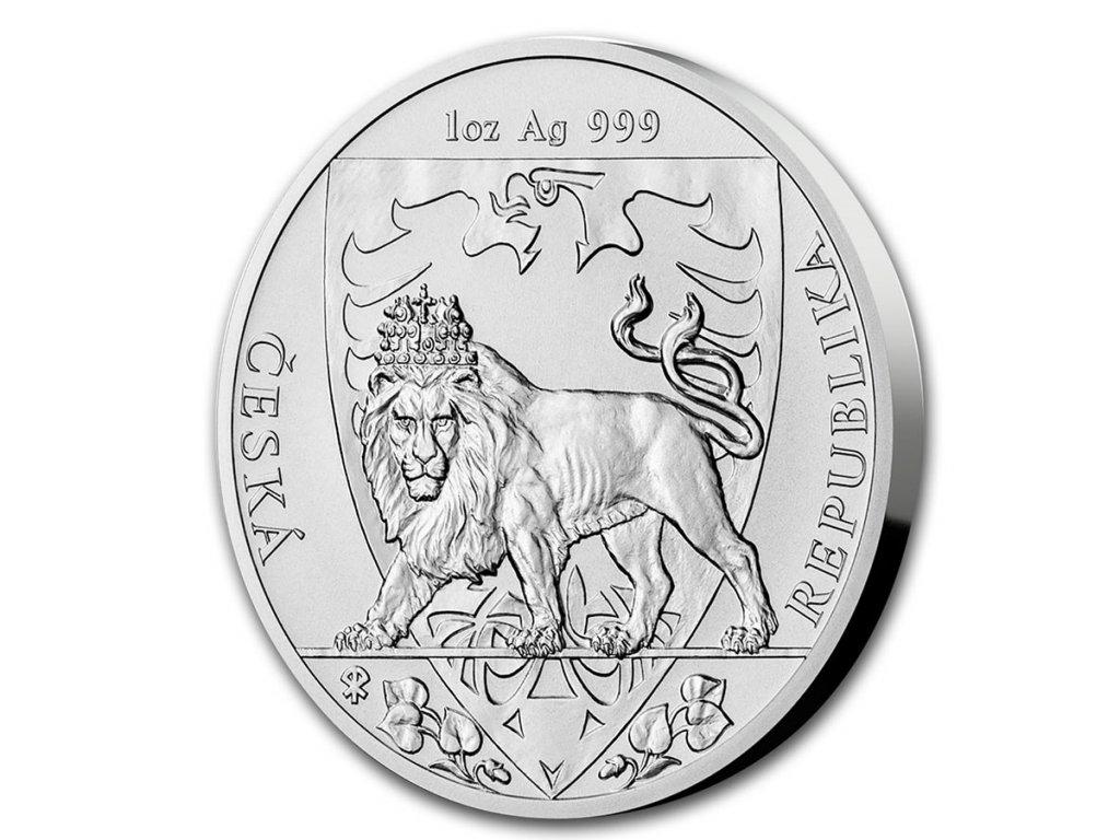 2020 niue 1 oz silver czech lion bu 207744 slab