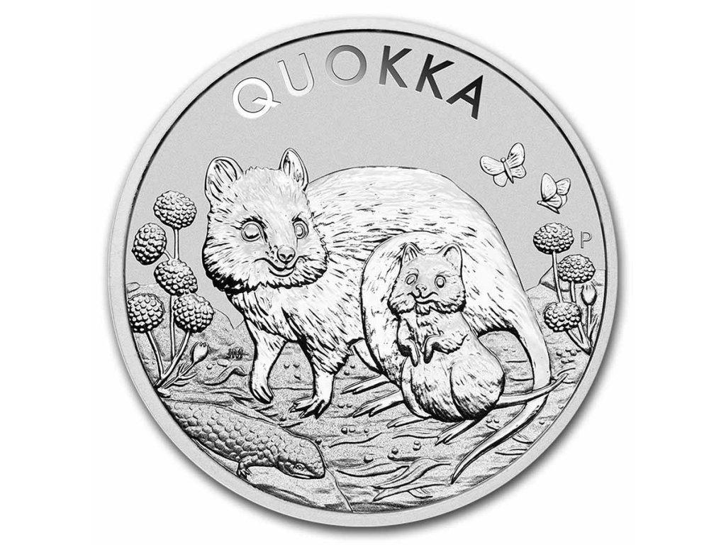 2021 australia 1 oz silver australian quokka bu 236288 slab