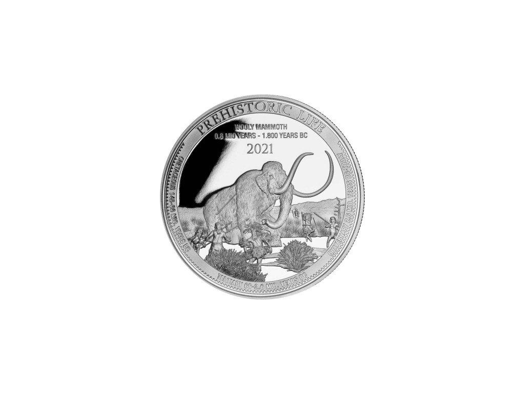 kongo prehistorical life 4. ausgabe 2021 wollmammut 1 oz silber vs