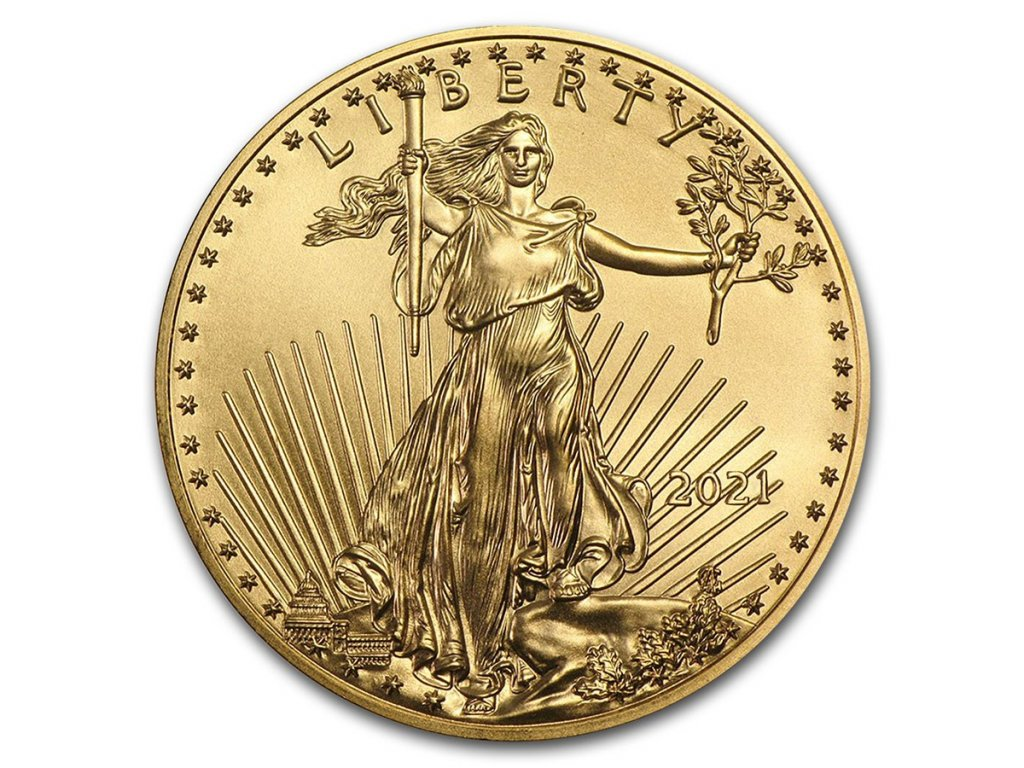 2021 1 oz american gold eagle bu 218622 slab