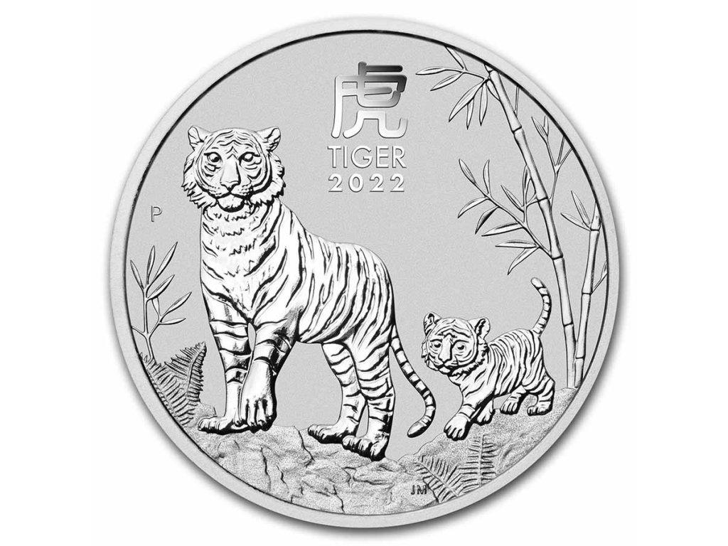 2022 australia 2 oz silver lunar tiger bu series iii 237596 slab