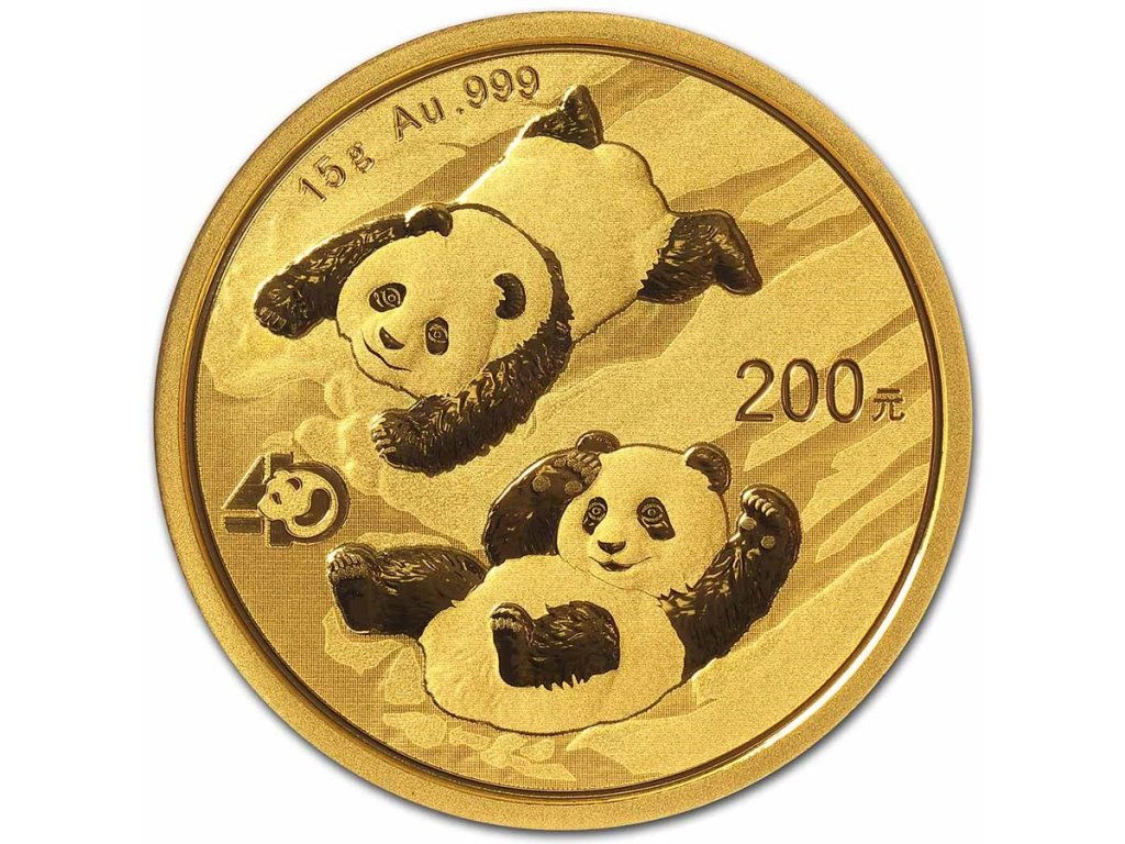 2021 china 15 gram gold panda bu sealed 223705 slab