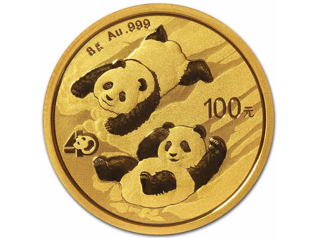 2021 china 8 gram gold panda bu sealed 223706 slab