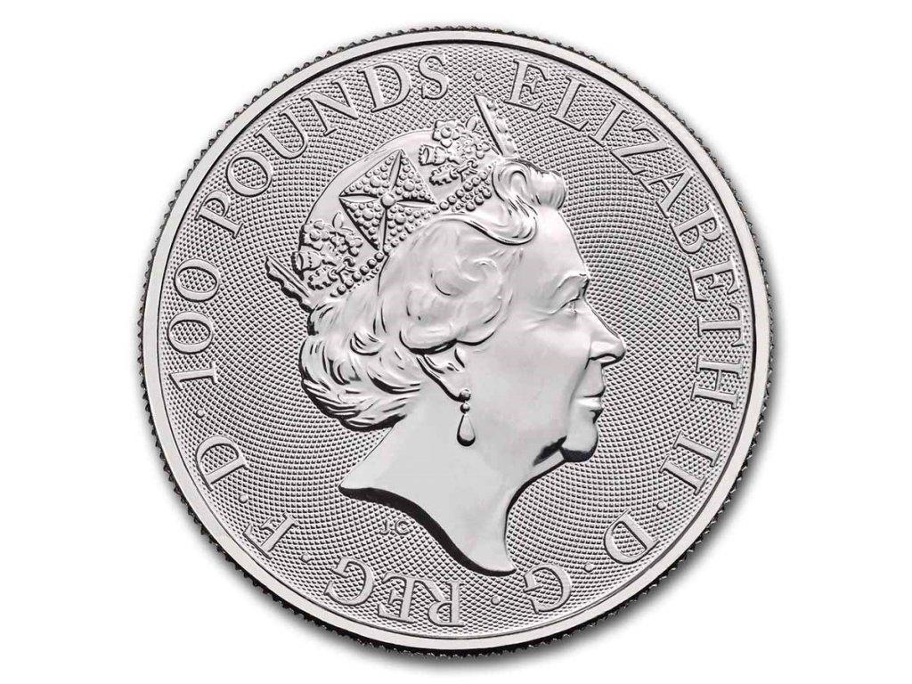 2021 great britain 1 oz platinum queens beast the white horse 229848 obv