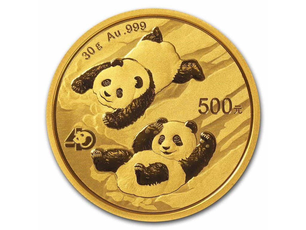 2021 china 30 gram gold panda bu sealed 218269 slab