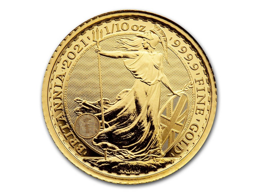 2021 great britain 1 10 oz gold britannia bu 224668 obv