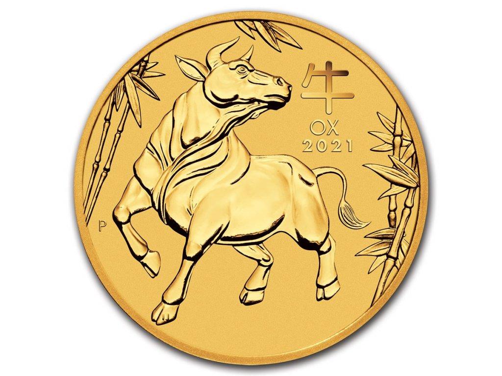 2021 australia 1 oz gold lunar ox bu series iii 217528 obv