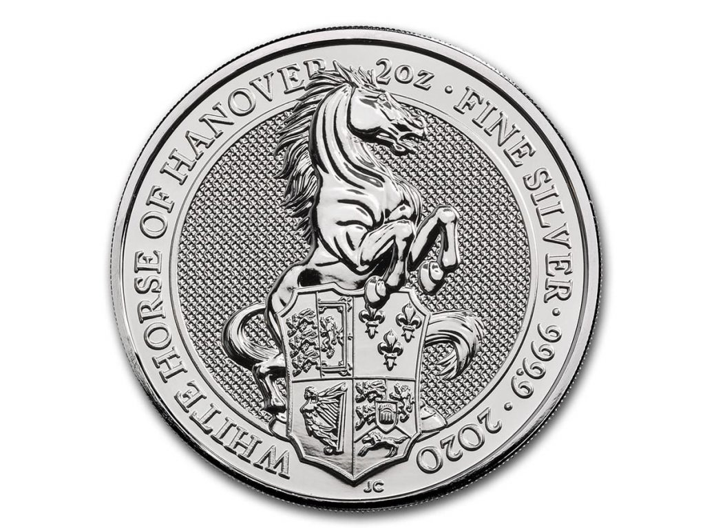 2020 great britain 2 oz silver queens beasts the white horse 198490 slab