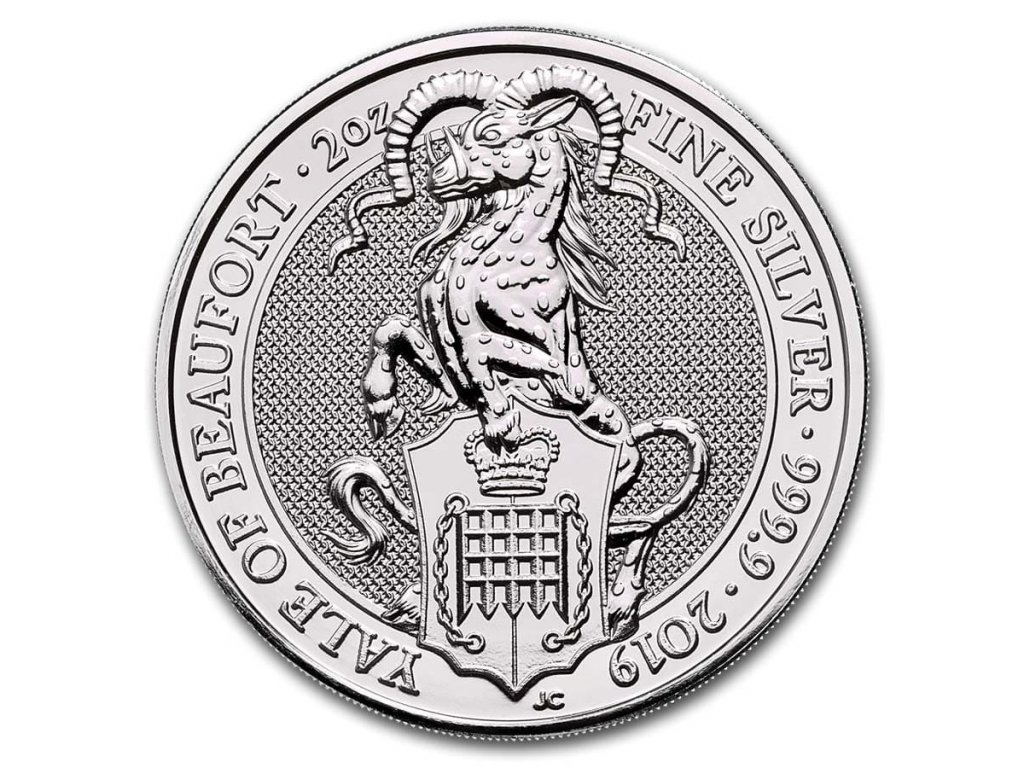 2019 great britain 2 oz silver queens beasts the yale 186773 slab