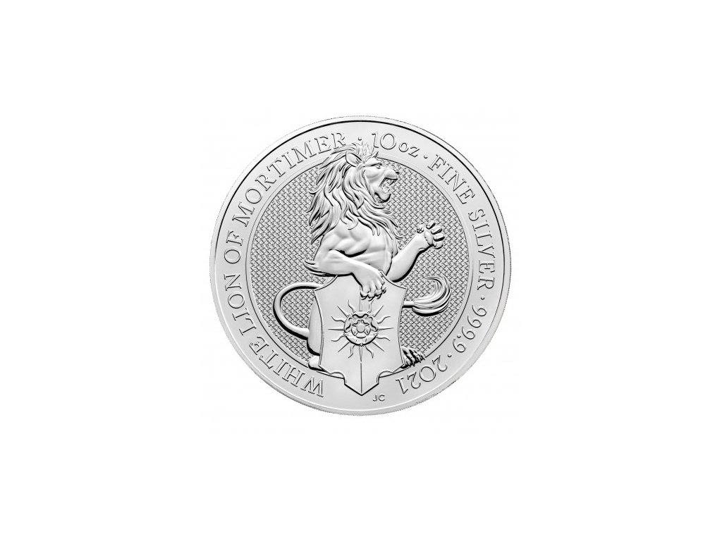 uk 10 oz silver queen s beast 2021 white lion 10