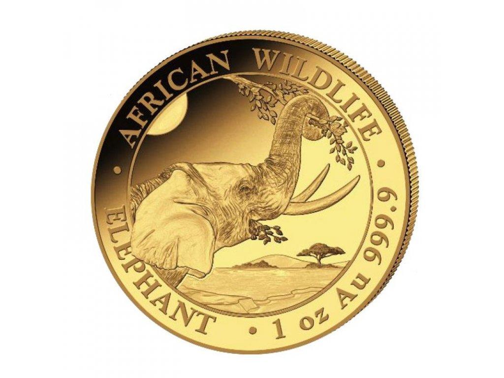 2021 somalia 1 oz gold elephant coin bu 216949 slab
