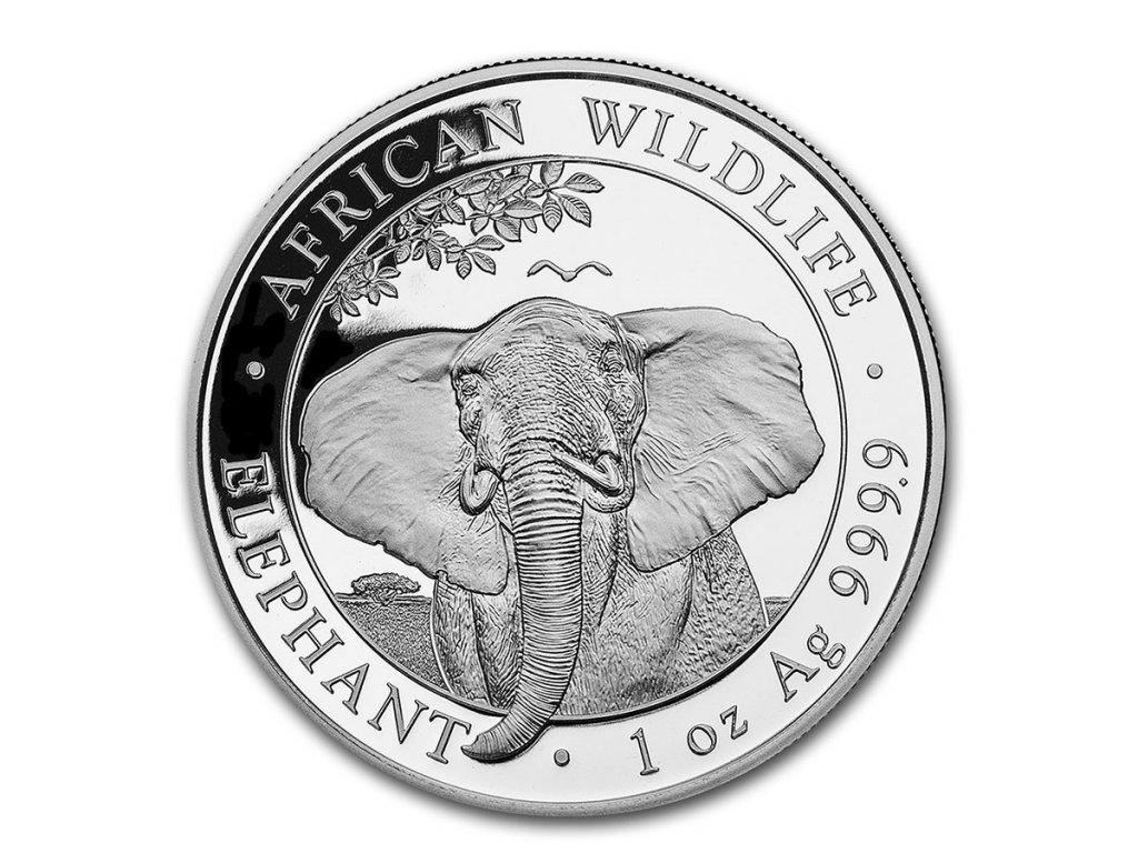2021 somalia 1 oz silver elephant bu 216933 obv