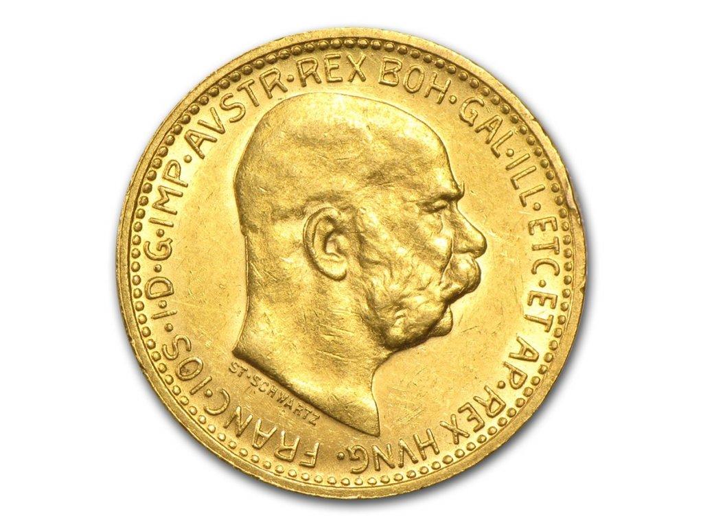 1892 1911 austria gold 10 coronas au 27687 Obv