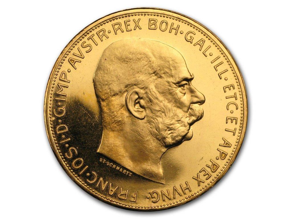 1915 austria gold 100 corona proof restrike 170920 obv
